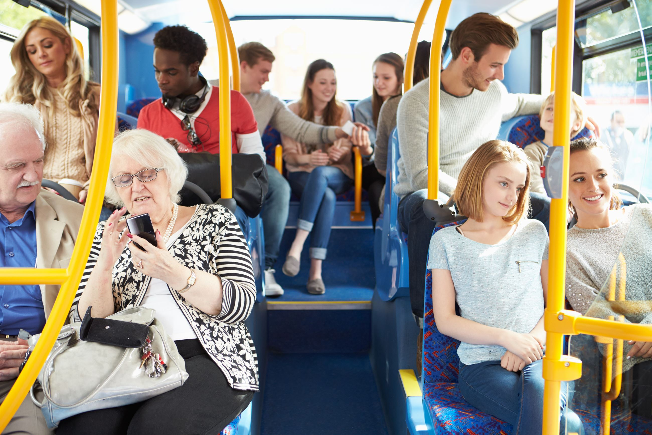 Generations riding the bus
