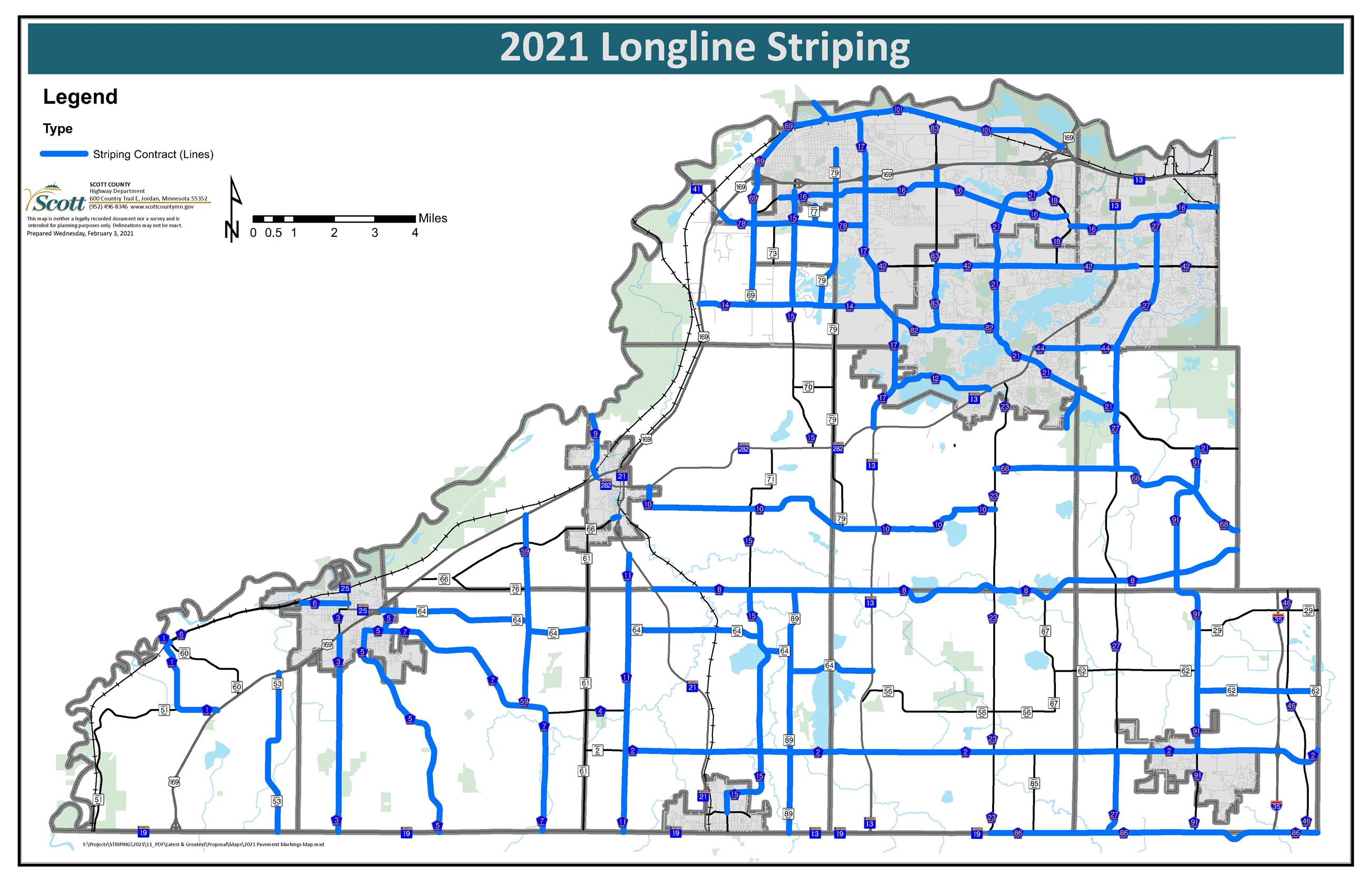 2021 Striping Map