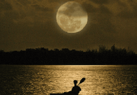 full moon paddleboarding